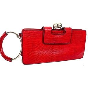 The Limited Red Leather Clutch Wallet Hobo